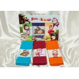 фото Набор полотенец для кухни Маша и Медведь 30*50 см - 3 шт plt090-3 Merzuka Турция
