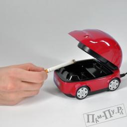 Купить USB пепельница-машинка - ловит ваш дым (красная)