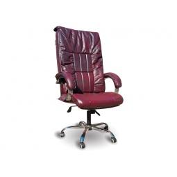Купить Офисное массажное кресло EGO BOSS EG1001 Maroon в комплектации ELITE (натуральная кожа)