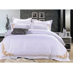 фото Постельное белье Cатин с вышивкой 2 спальное ES19-2 Famille