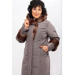 """Купить Пальто """"Адажио"""" - темно-серый"""