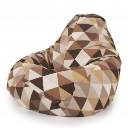 """Купить Кресло мешок """"Diamonds Brown"""" L"""