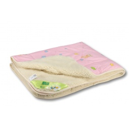 Купить Одеяло-покрывало Ягненок (мех искуственный/бязь)