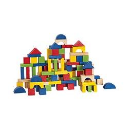 Купить Кубики деревянные, 100 штук (в ведерке)