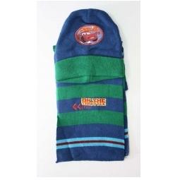 Купить Зимний набор Тачки (шарф+шапка) синий