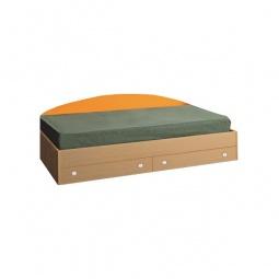 Купить Кровать 'Олимп-мебель' Тони-2 4210227 дуб линдберг/оранжевый