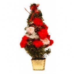 Купить Ели новогодние 'Сибим' Ель новогодняя (45 см) с украшениями ИТ2 45 (золото)