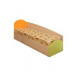 Купить Кровать 'Олимп-мебель' Тони-1 4200227 дуб линдберг/зеленое яблоко/оранжевый