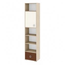 Купить Стеллаж комбинированный 'Мебель Трия' Тетрис ПМ-154.08 ясень белладжио/молочный/шоколадный
