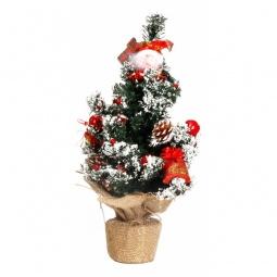 Купить Ели новогодние 'Сибим' Ель новогодняя (45 см) с украшениями ИТ1 45 (красный)
