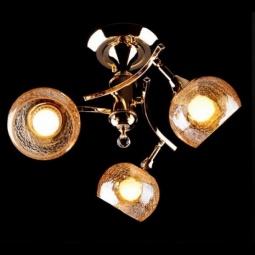 фото Потолочная люстра Eurosvet 3353, 3457 3353/3Н золото/коричневый Eurosvet