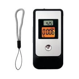 Купить Алкотестер электронный высокоточный с мундшт. (2 LCD с подсв, 3 ед. изм., таймер, обр. отсчет, часы)