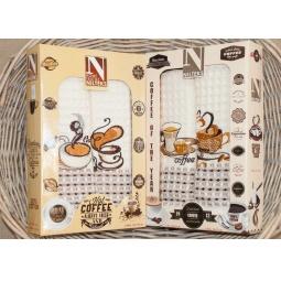 фото Набор полотенец для кухни из 2х штук с вышивкой PLT180-5 Tango