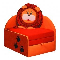 Купить Диван-кровать 'Олимп-мебель' Мася-11 Лев 8071127 оранжевый/красный