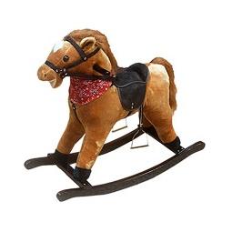 Купить Лошадка-качалка КОВБОЙ, светло-коричневая
