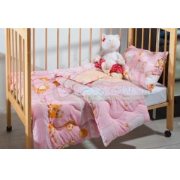 Купить Детское одеяло Лежебока экофайбер розовое 110х140 см 120145 Подушкино
