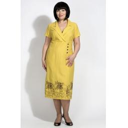 """Купить Платье """"Манон"""" - желтый"""