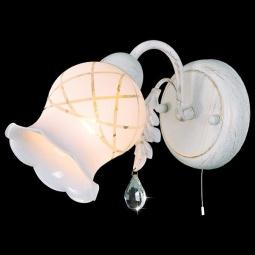 фото Бра Eurosvet 70001/1 белый с золотом/прозрачный хрусталь Eurosvet