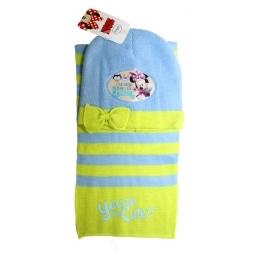 Купить Набор шапка+шарф Минни, голубой