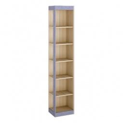 Купить Стеллаж комбинированный 'Мебель Трия' Индиго ясень ПМ-145.13 коимбра/навигатор