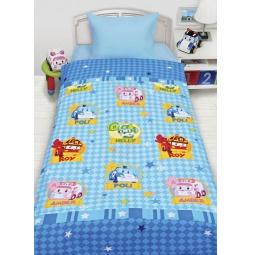 Купить Постельное белье для мальчиков Робокары бязь 1,5 спальное 200143 Мона Лиза