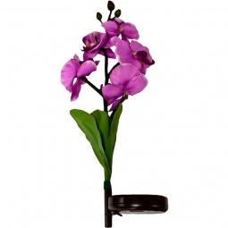 """Купить Светильник на солнечной батарее """"Орхидея фиолетовая"""", 5 LED белый, PL301"""