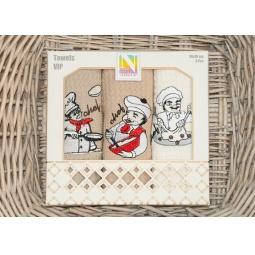 фото Набор полотенец для кухни вафельные с вышивкой PLT179-5 Tango