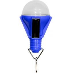 """Купить Светильник садово-парковый на солнечной батарее """"Лампочка"""", 4 LED синий, D 68*155м , PL262"""