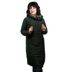 """Купить Пальто """"Пьемонт"""" - черно-зеленый"""