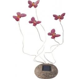 Купить Светильник садово-парковый на солнечной батарее, 5 белых LED, розовый, CD712P