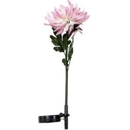 """Купить Светильник садово-парковый на солнечной батарее """"Астра"""" розовый, 1 LED белый, 75см , PL303"""