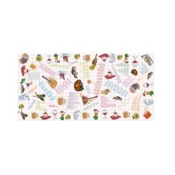 Купить Застольная скатерть с тостами, песнями и анкдотами