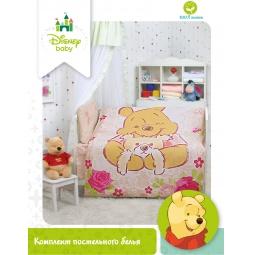 Купить КПБ Бязь Disney Винни для новорожденных 83012 Мона Лиза