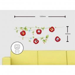 Купить Наклейка на стену для 5 фоторамок, NL84