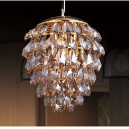 фото Подвесной светильник Crystal Lux Charme SP3+3 LED Gold/Amber Crystal Lux