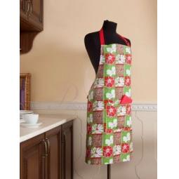 Купить Фартук кухонный Цветы 65х80 см 261205 Примавель