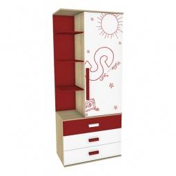 Купить Шкаф комбинированный 'Любимый Дом' Алфавит 506.130 сантана/белый/красный