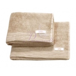 Купить Махровое полотенце Silk-шелк 70х135 4012 бежевый Примавель