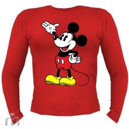 Купить Мужская футболка с длинными рукавом «Микки Маус (1)»