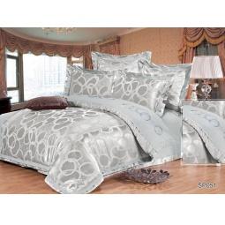 фото КПБ Жаккард с вышивкой 2,0 спальное с 4мя наволочками ARBALDO 44034 Silk-Place