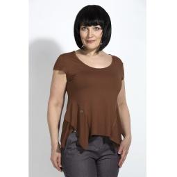 """Купить Блуза """"Лулу"""" - коричневый"""