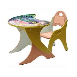 Купить Набор детской мебели Капелька на регулируемом основании ВОЛШЕБНЫЙ ОСТРОВ персиковый/желтый
