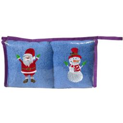 Купить Набор Полотенец Санта-Клаус и Снеговик 34*70 См -2 Шт 15820 Примавель