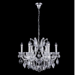 фото Подвесная люстра Crystal Lux Hollywood SP6 Chrome Crystal Lux