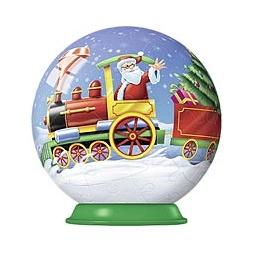 Купить Новогодний шарик ПОЕЗД ДЕДА МОРОЗА, 54 детали