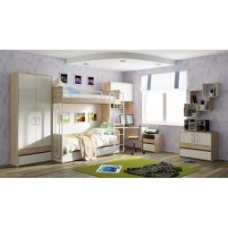 Купить Гарнитур для детской 'Мебель Трия' Атлас ГН-186.003 дуб сонома/хаотичные линии