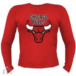 Купить Мужская футболка с длинными рукавом «Чикаго Буллс»