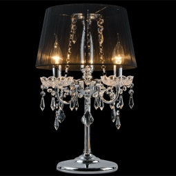 фото Настольная лампа Eurosvet 2045/3T хром/черный Eurosvet