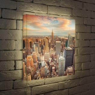 """Купить Лайтбокс """"NYC"""" 45x45-105 FotonioBox"""