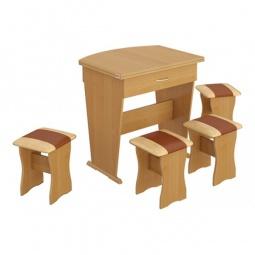 Купить Набор кухонный 'Мебель Трия' тип 2 ольха/бук/коричневый